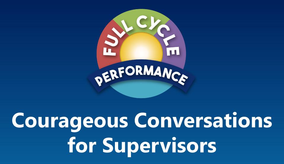 Courageous Conversations Workshop for Supervisors