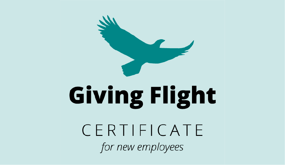 Giving Flight Certificate for New Employees