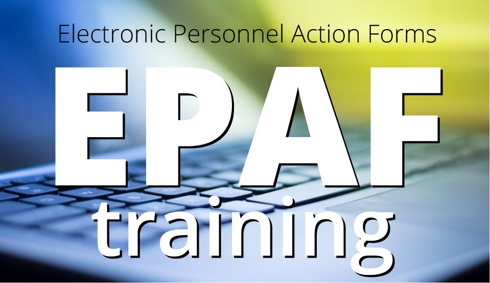 EPAF Training