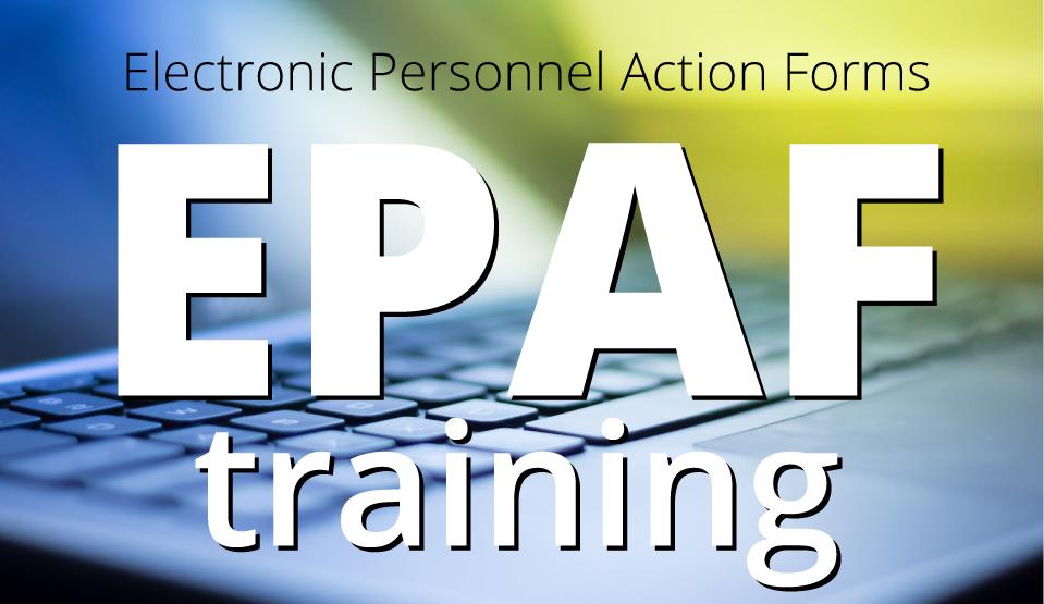 EPAF Training: Virtual