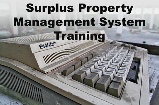 Surplus Property Training: Virtual