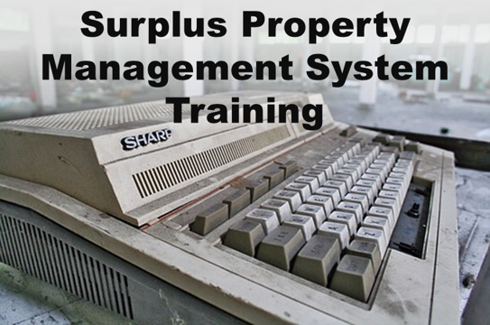 Surplus Property Training: Virtual